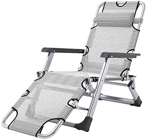 ADHW Sillas reclinables, reclinables para exteriores, balcón, tumbonas reclinables, reclinables, de aluminio, reclinables