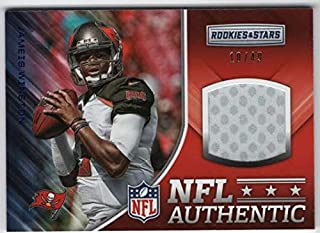 2017 Panini Rookies and Stars NFL Authentic Prime Jersey Patch #7 Jameis Winston Relic SER/49