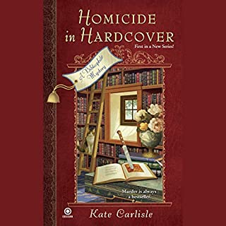 Homicide in Hardcover audiobook cover art