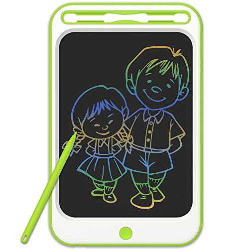 JONZOO LCD Writing Drawing Tablet 10 inch Colorful Electronic Doodle Board with Screen Lock Digital Sketch Pad Erasable Reusable eWriter Paperless Tool for Kids Adults at Home/School/Office
