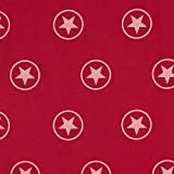 Fabulous Fabrics Softshell Sterne – Karminrot —