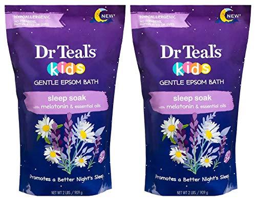 Dr Teal's Kids Epsom Salt Sleep Soak 2-Pack (4lbs Total) with Melatonin