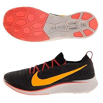 Nike Men s Zoom Fly Flyknit Black/Flash Crimson/Orange Peel Nylon Running Shoes 11 M US