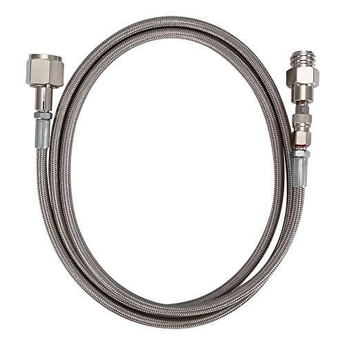 VIFERR CO2 Soda Club, 72-Zoll-Schlauch an Externen CGA320 Behälter Direkt Adapter für Fill Sodastreams