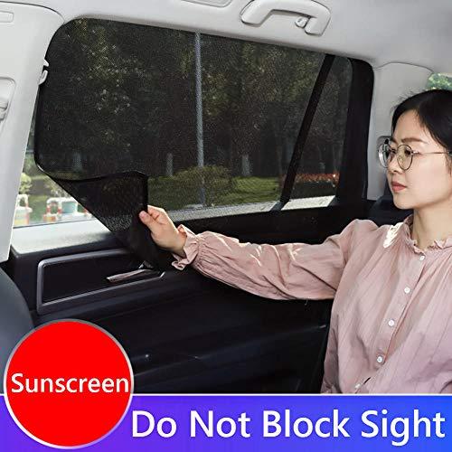 Cubierta magnética de la cortina del sol del coche Cortina Protección UV Ventanas laterales automáticas Protector de la visera del sol Malla Sombrilla Protector de verano Película-1_2 frente 2 trasero