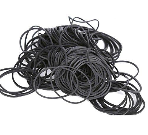 Hamosky Gummibänder Gummiringe Elastische Bänder Φ38mm 100% Naturkautschuk ca. 500 Stück (schwarz)