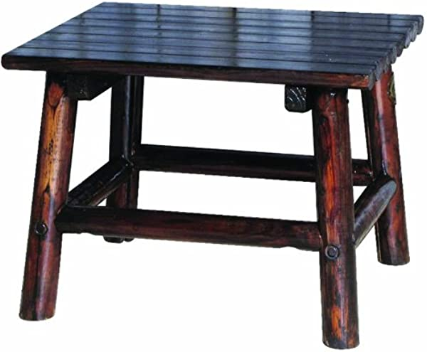 Char Log 24 Inch By 20 Inch Wood End Table