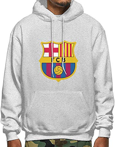 SDFGSE FC Barcelona Men's Polyester Hoodie Pocket Sweater Jackets M