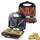 Waffle Maker, Plancha Para Waffle, Maquina De Gofres, Andwichera De Relleno Profundo Con Placas Antiadherentes Extra Profundas Y Fáciles De Limpiar, Control Automático De Temperatura
