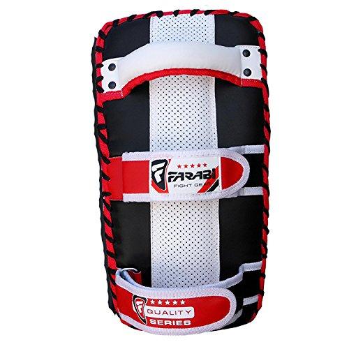 Farabi Thai pad, Kickboxing Kick pad, Kick Training Strike Shield MMA Muay Thai pad Curved (Single Item)