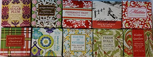 Greenwich Bay Trading Company Holiday Soap Sampler 10 Pack of 1.9oz Bars Only Winter Fragrances - Bundle 10 items