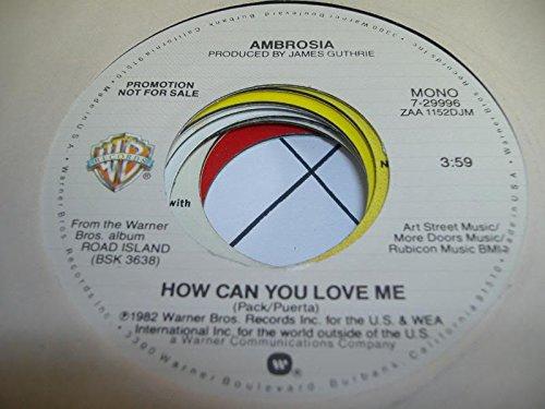 AMBROSIA 45 RPM How Can You Love Me / SAME