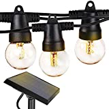 Brightech Ambience Pro - Waterproof Solar LED Outdoor String Lights - 1W Retro