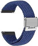 Niboow Correa Trenzada Compatible con Huawei Watch 22mm, Elástica Correa Deportiva Trenzada Compatible con Huawei Watch 3/3 Pro/Huawei Watch GT 2 46 mm/GT 2e/Huawei GT2 Pro/Honor GS Pro-Blue