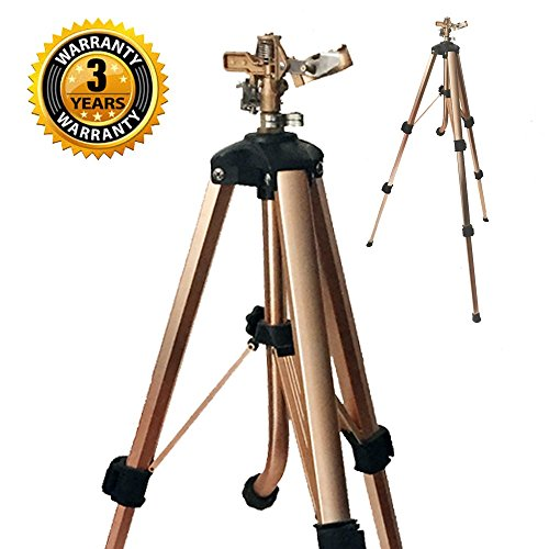 Brass Impact Tripod Sprinkler with Heavy Duty Brass