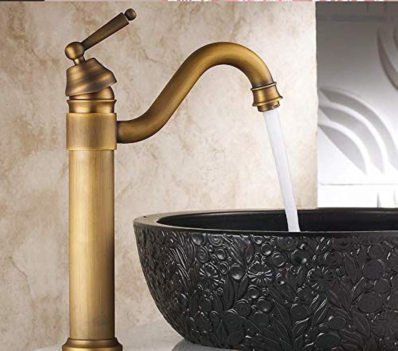 Kupfer antik Wasserhahn hei und kalt Retro über Gegenbecken Europische Bad Waschbecken Wasserhahn erhhen Becken Wasserhahn