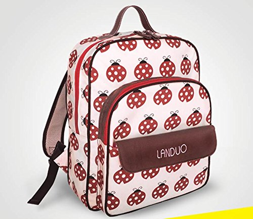 Sac à dos imperméable à l'eau multifonctionnel à la mode jeunesse, sac à dos à grande capacité, sac à main pour bébé ( Couleur : Rouge )