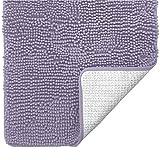 Gorilla Grip Original Luxus Chenille Badteppich 24x17 extra weich und saugfähig Shaggy Teppiche, maschinenwaschbar, perfekter Plüsch Teppich Matten für Wanne, Dusche und Bad, Hellviolett