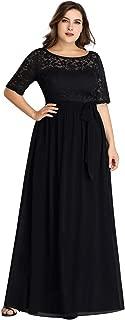 Ever-Pretty Women's Half Sleeves Round Neck A Line Floor Length Strapless Low Streth Bridesmaid Dresses EZ07624