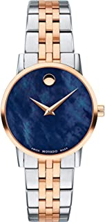Movado Museum Classic Blue Mother of Pearl Dial Two-Tone Ladies Watch 0607268
