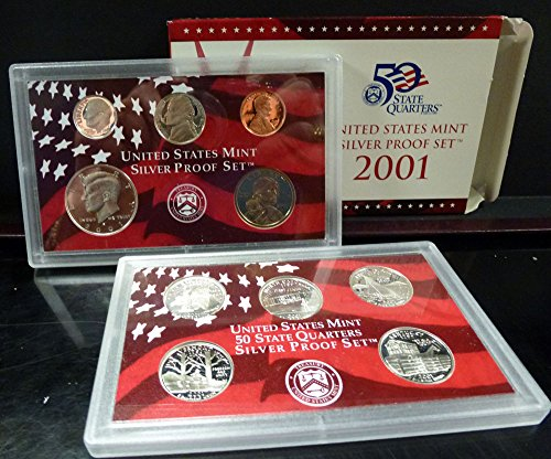 2001 U.S. Mint Silver Proof Set Set Uncirculated