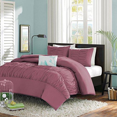 Scala SCALABEDDING Mittelsteppung Mimi Rüschen Bezug für Bettdecke/Tagesdecke, 300 tc ägyptische Baumwolle California King Lavendel