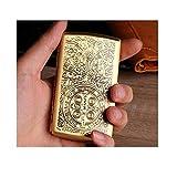 HYY-YY Caja de Cigarrillo 12 Palos, portátil Caso Simple Retro Cigarrillo Creativo Cobre Retro, es el de los Fumadores, tamaño 8,96 * 5,42 * 1,9 cm, Oro, Anti-presión