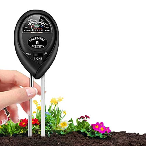 Soil pH Meter, 3-in-1 Soil Moisture/Light/pH Tester and Humidity Meter for Gardening, Lawn, Farm, Indoor & Outdoor, Soil Moisture Meter(No Battery Needed)