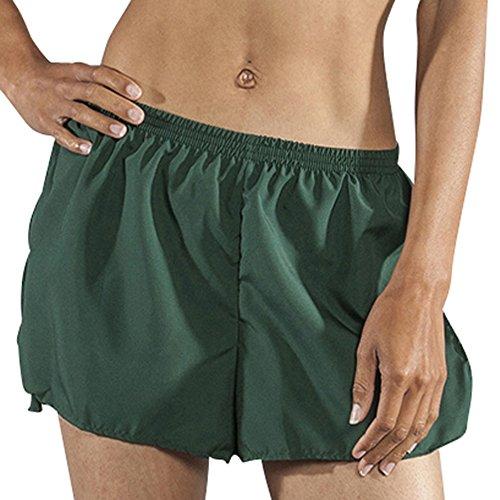 BOA Womens 1.5' Half Split Trainer Solid Running Short (1201B)(Forest, Small)