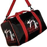 BAY® Sporttasche Kickboxen Kick-Boxen, Thaiboxen Muay Thai, Tasche, schwarz/rot, 50 cm
