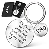 Fathers Day Gift for Dad -'I'll Always Be Your Little Girl, You'll Always Be My Hero!' Engraved Keychain | Best Gifts for Dad from Daughter | Father of the Bride Gifts with Gift Box from TakeFlight