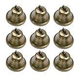 SUPVOX - Juego de 35 cascabeles de Bronce Vintage para Entrenamiento de Orinal de Perro, para Hacer campanillas de Viento, Manualidades y decoración de Regalos