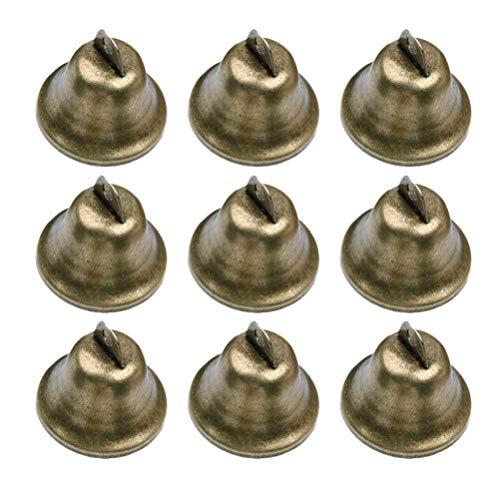SUPVOX Mini Glocke Deko Rassel Glocke Mini Jingle Bells DIY Handgemachte Accessoires 38mm 20 Stück (Bronze)