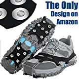 EnergeticSky Ice Cleat Spikes Crampons and Tread for Snow & Ice,The Only Innovative Design on Amazon,Attaches Over Shoes/Boots for Everyday Safety in Winter,Outdoor,Slippery Terrain. (Medium)