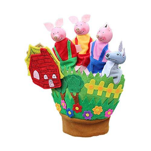 Guantes cinco dedos Nuevo juguete educación temprana