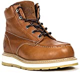 ROCKROOSTER Work Boots for Men, Composite Toe Waterproof Puncture Resistant Safety Working Shoes (AP828, 9-BRN)