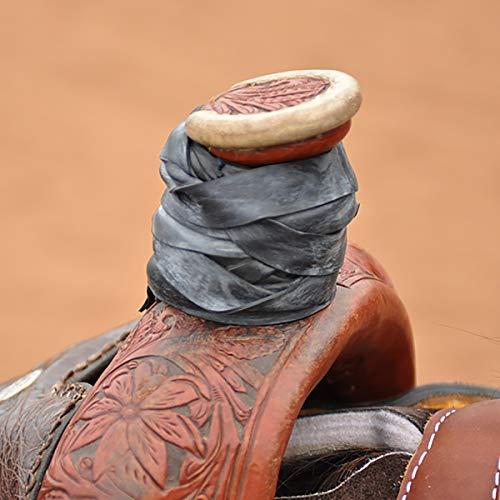 Classic Equine Horse Roper Wrap Dally Wrap - 12 Per Package (Black)