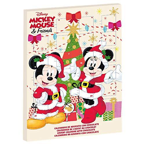 Dekora Mouse Calendario de Adviento para Niños de Chocolate de Mickey y Minnie, color blanco (225067)