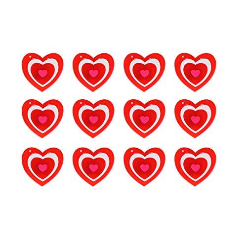Amosfun 15 stücke Valentine led leuchten Herz brosche kreative blinkende brosche schmuck Geschenk Valentinstag gastgeschenke Dekoration (rot)