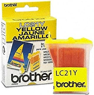 Brother LC-21Y ( Brother LC21Y ) Yellow Inkjet Cartridge, Works for MFC 5200c by Printer Essentials