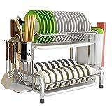 Newox Organizador de almacenamiento de cocina de acero inoxidable para...