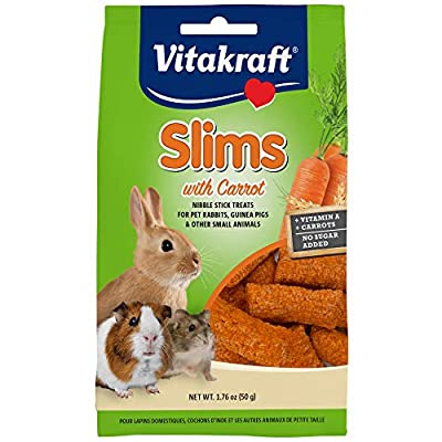 Vitakraft Pet Rabbit Slims With Carrot - Nibble Stick Treat, 1.76 Ounce Pouch from Vitakraft