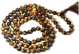 Zoya Gems & Jewellery Tigers Eye Mala 8mm With Natural Stone 108 Beads Crystal Stone Chain