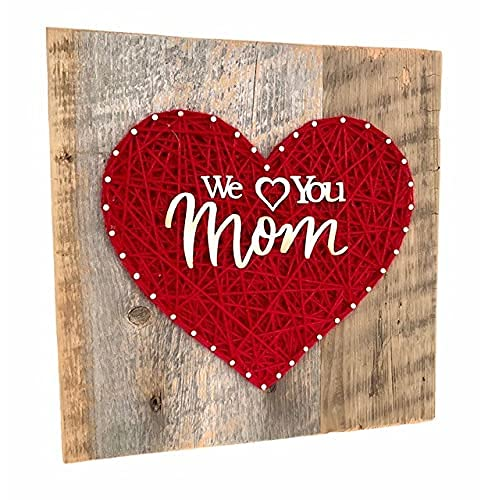 We Love you Mom sign from the Weekly update Mom. for gift Heart Under blast sales kids. Keepsake