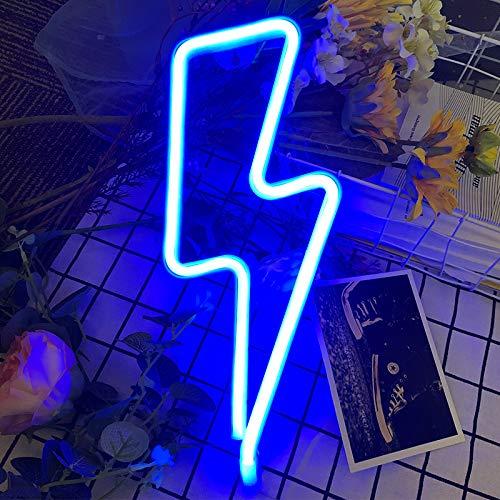 LED-Neonschild für Wanddekoration, USB- oder batteriebetriebenes Neonlicht, Lichtschilder, Lampen, Kunstdekoration, Wanddekoration, Tischbeleuchtung, dekorativ für Weihnachten, Kinderzimmer, Blau