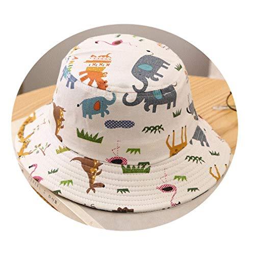 YAOXI Verano Muchachas De Los Bebés De Dibujos Animados para Niños Pequeños Cactus Imprimir Bucket Las Gorras Reversible Sun Headwear,A