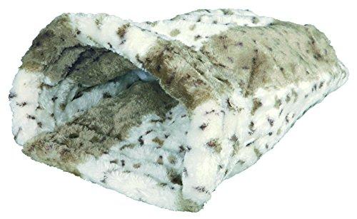 Trixie 3695 Kuschelsack Leika, 25 × 27 × 45 cm, beige/weiß