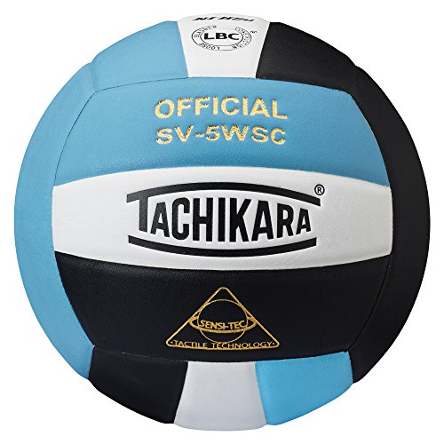 Tachikara SV5WSC Sensi-Tec Composite High Performance Volleyball (Powder Blue/White/Black) - SV5WSC.PBWB
