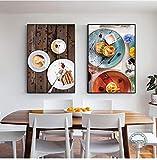 torta pane dessert poster cibo gustoso tela pittura moderna immagine di arte della parete per la cucina cafe ristorante decorazione 40x50cmx2pcs senza cornice
