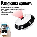 3D-Stereo-Überwachung ohne Verformung, 360Augen, keine Dead zone Sicherheit Kamera Draht in Autio Mikrofon und Lautsprecher integriert, 1,3Millionen Pixel Auflösung 960p, 1.71mm Linse, eingebaute WIFI 802.11b/g/n Protokoll TF Karte, Unterstützung ...